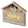 Kép 2/8 - EMOS LED adventi naptár, fa, 40x50 cm, 2x AA, beltéri, meleg fehér, időzítő