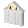Kép 2/8 - EMOS LED adventi naptár, fa, 35x33 cm, 2x AA, beltéri, meleg fehér, időzítő