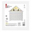 Kép 4/8 - EMOS LED adventi naptár, fa, 35x33 cm, 2x AA, beltéri, meleg fehér, időzítő