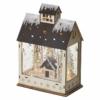 Kép 2/7 - EMOS LED karácsonyi házikó, fa, 30 cm, 2x AA, beltéri, meleg fehér, időzítő