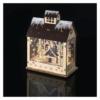 Kép 5/7 - EMOS LED karácsonyi házikó, fa, 30 cm, 2x AA, beltéri, meleg fehér, időzítő