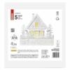 Kép 3/7 - EMOS LED karácsonyi házikó, fa, 28 cm, 2x AAA, beltéri, meleg fehér, időzítő