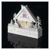 Kép 5/7 - EMOS LED karácsonyi házikó, fa, 28 cm, 2x AAA, beltéri, meleg fehér, időzítő