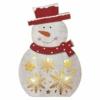 Kép 1/7 - EMOS LED karácsonyi hóember, fa, 30 cm, 2x AA, beltéri, meleg fehér, időzítő
