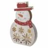 Kép 2/7 - EMOS LED karácsonyi hóember, fa, 30 cm, 2x AA, beltéri, meleg fehér, időzítő