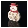 Kép 5/7 - EMOS LED karácsonyi hóember, fa, 30 cm, 2x AA, beltéri, meleg fehér, időzítő