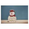 Kép 6/7 - EMOS LED karácsonyi hóember, fa, 30 cm, 2x AA, beltéri, meleg fehér, időzítő