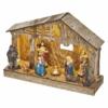 Kép 2/7 - EMOS LED karácsonyi betlehem, fa, 19 cm, 3x AA, beltéri, meleg fehér, időzítő