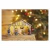 Kép 6/7 - EMOS LED karácsonyi betlehem, fa, 19 cm, 3x AA, beltéri, meleg fehér, időzítő