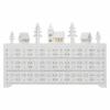 Kép 1/6 - EMOS LED adventi naptár, fa, 23x37 cm, 2x AA, beltéri, meleg fehér, időzítő