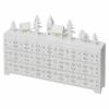 Kép 2/6 - EMOS LED adventi naptár, fa, 23x37 cm, 2x AA, beltéri, meleg fehér, időzítő
