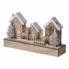 Kép 2/6 - EMOS LED karácsonyi házikók, fa, 17 cm, 2x AA, beltéri, meleg fehér, időzítő