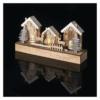 Kép 5/6 - EMOS LED karácsonyi házikók, fa, 17 cm, 2x AA, beltéri, meleg fehér, időzítő