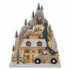 Kép 1/7 - EMOS LED karácsonyi tájkép, fa, 22 cm, 2x AA, beltéri, meleg fehér, időzítő