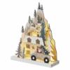Kép 2/7 - EMOS LED karácsonyi tájkép, fa, 22 cm, 2x AA, beltéri, meleg fehér, időzítő