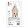 Kép 3/6 - EMOS LED dekoráció, fa házikó hóemberekkel, 28.5 cm, 2x AA, beltéri, meleg fehér, időzítő