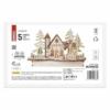 Kép 3/7 - EMOS LED dekoráció, fa behavazott templom, 15 cm, 2x AA, beltéri, meleg fehér, időzítő