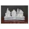 Kép 5/6 - EMOS LED dekoráció, fa, fehér falu, 16 cm, 2x AA, beltéri, meleg fehér, időzítő