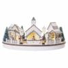 Kép 2/9 - EMOS LED karácsonyi falu, kör, 2x AA, beltérre, meleg fehér, időzítő