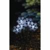 Kép 1/7 - EMOS LED karácsonyi leszúrható hópelyhek, 30 cm, 3x AA, kültéri és beltéri, hideg fehér, időz.