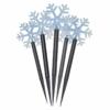 Kép 2/7 - EMOS LED karácsonyi leszúrható hópelyhek, 30 cm, 3x AA, kültéri és beltéri, hideg fehér, időz.