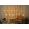 Kép 1/2 - Entac Karácsonyi Függöny IP44 138 LED 12db csillag 8F + időzítő 2x1m IR távirányítóval