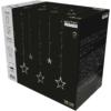 Kép 2/2 - Entac Karácsonyi Függöny IP44 138 LED 12db csillag 8F + időzítő 2x1m IR távirányítóval