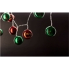 Kép 1/2 - Entac Karácsonyi Beltéri Színes Gömb 55mm Füzér 10 LED WW 1,65m (2AA nt.)