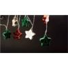 Kép 1/2 - Entac Karácsonyi Beltéri Színes Csillag 60mm Füzér 10 LED WW 1,65m (2AA nt.)