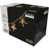 Kép 2/2 - Entac Karácsonyi Beltéri Fém Arany Csillag 10 LED WW 1,65m (2AA nt.)