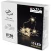 Kép 2/2 - Entac Karácsonyi Beltéri Műanyag Füzér Csillag 10 LED WW 1m (2AA nt.)
