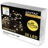 Kép 1/2 - Entac Karácsonyi Beltéri Mini Drótfüzér 20 LED Időzítővel WW 1m (2x2032 tart.)