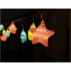 Kép 1/3 - Entac Karácsonyi Beltéri Füzér Színes csillagok 1,65m (2AA nt.)