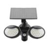 Kép 1/11 - Entac Napelemes Műanyag Fali lámpa 10W SMD 2 fej mozgásérzékelővel