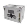Kép 2/11 - Entac Napelemes Műanyag Fali lámpa 10W SMD 2 fej mozgásérzékelővel