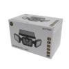 Kép 2/9 - Entac Napelemes Műanyag Fali lámpa 15W SMD 3 fej mozgásérzékelővel
