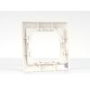 Kép 4/5 - Kanlux DOMO - Egyes keret, vízszintes, gyöngyfehér