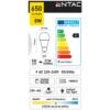 Kép 2/3 - Entac LED izzó E27 8W NW 4000K