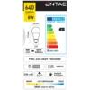 Kép 2/3 - Entac LED izzó E27 8W WW 3000K
