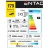 Kép 3/5 - Entac LED spot izzó GU10 4W WW 3000K