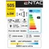 Kép 3/5 - Entac LED spot izzó GU10 6,5W WW 3000K