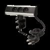 Kép 1/6 - Orno asztali elosztó 3x aljzat, USB elosztó, 1.8 m kábel