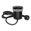 Kép 1/6 - Orno süllyeszthető asztali aljzat 6 cm, USB töltő, 1.9 m kábel