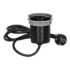 Kép 1/6 - Orno süllyeszthető bútor elosztó 6 cm, USB töltő, 1.9 m kábel