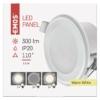 Kép 4/7 - EMOS LED PANEL BEÉPÍTHETŐ KÖR 5W 2IN1 WW W (ZD1311)