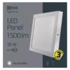 Kép 5/7 - EMOS LED PAN FALON KÍVÜLI PANEL NÉGYZET 18W IP20 CW (ZM6142)