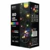 Kép 1/7 - EMOS Karácsonyi Fényforrás Multifunkció 8M 80LED IP44 színes