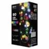 Kép 1/6 - EMOS Karácsonyi Fényforrás Cherry Multifunkció 8M 80LED IP44, színes