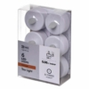 Kép 1/3 - EMOS karácsonyi dekorációs világítás 6x LED mécses fehér, 3.8 cm, vintage