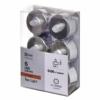 Kép 1/3 - EMOS karácsonyi dekorációs világítás 6x LED mécses ezüst, 3.8 cm, vintage